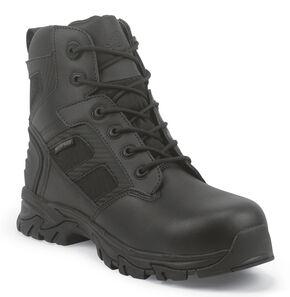 Justin JOW Men's Work Tek Assault Waterproof Work Boots, Black, hi-res