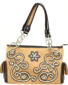 Blazin Roxx Floral Stitched Handbag, , hi-res