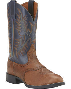 Ariat Heritage Stockman Cowboy Boots - Round Toe, , hi-res
