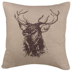 HiEnd Accents Elk Bust Accent Pillow, , hi-res