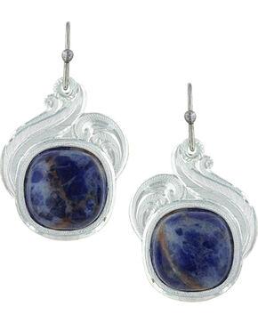 Montana Silversmiths Women's Midnight Wind Earrings , Silver, hi-res