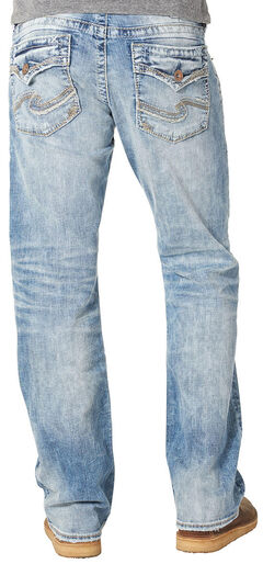 Silver Jean's Men's Zac Light Wash Relaxed Fit Jeans - Straight Leg , , hi-res
