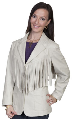 Scully Women's Lamb Leather Fringe Jacket, , hi-res