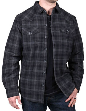 Cody James Men's Paso Robles Plaid Flannel Shirt, Black, hi-res