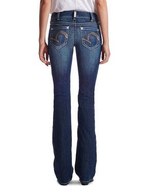 Ariat Women's Indigo Mid-Rise Morgan Lakeshore Jeans - Boot Cut , Blue, hi-res