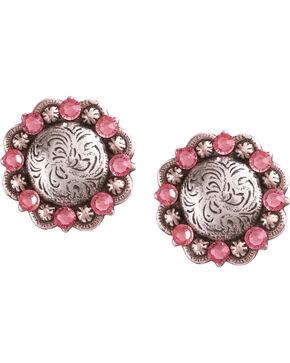 Julie Rose Filigree Concho Post Earrings, Pink, hi-res