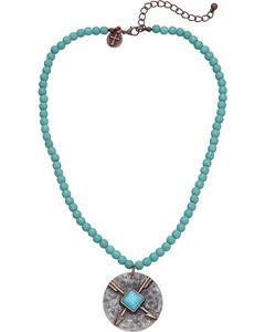 West & Co. Women's Single Strand Turquoise Arrow Charm Necklace, , hi-res