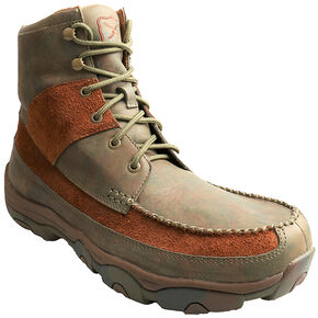 Twisted X Men's Camo Lace-Up Hiker Boots - Round Toe , Brown, hi-res