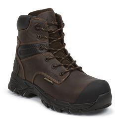 "Justin Men's Work Tek 6"" Waterproof Lace-Up Work Boots - Composition Toe, , hi-res"