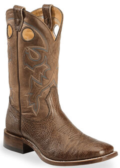 Boulet Stockman Cowboy Boots - Wide Square Toe, , hi-res