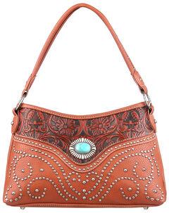 Montana West Trinity Ranch Tooled Design Handbag with Single Strap, , hi-res