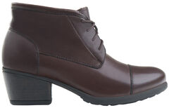 Eastland Women's Brown Alexa Lace-Up Booties, , hi-res