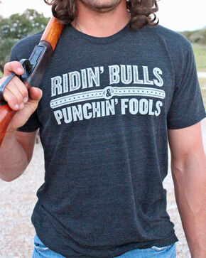 Dale Brisby Men's Ridin' Bulls & Punchin' Fools Shirt , Black, hi-res