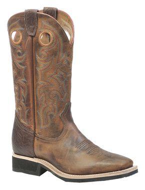 Boulet Rider Sole Cowboy Boots - Square Toe, Tan, hi-res