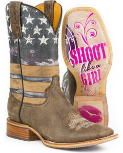 Tin Haul Women's American Woman Cowgirl Boots - Square Toe, , hi-res