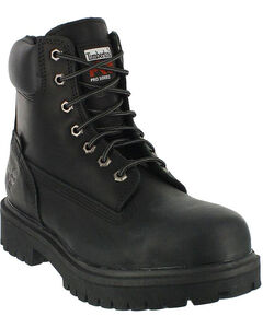 """Timberland PRO Men's Direct Attach 6"""" Waterproof Insulated Work Boots - Steel Toe, Black, hi-res"""