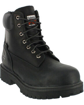 "Timberland PRO Men's Direct Attach 6"" Waterproof Insulated Work Boots - Steel Toe, Black, hi-res"