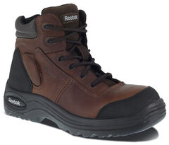 "Reebok Men's Trainex 6"" Lace-Up Waterproof Work Boots - Composition Toe, , hi-res"
