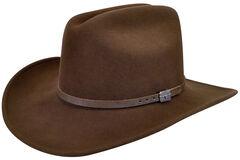 Wind River by Bailey Men's Wistar Brown Felt Hat, , hi-res