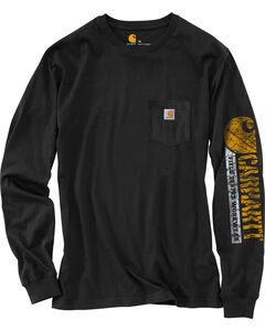 Carhartt Graphic Logo Long Sleeve Shirt - Tall, Black, hi-res