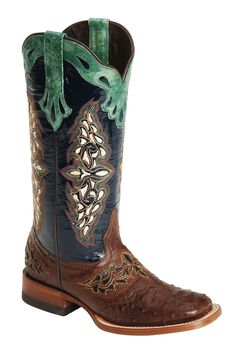 Lucchese Handcrafted 1883 Amberlyn Full Quill Ostrich Boots, , hi-res