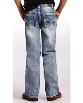 Rock & Roll Cowboy Boys' BB Gun Ivory Bean Stitch Jeans - Boot Cut, Indigo, hi-res