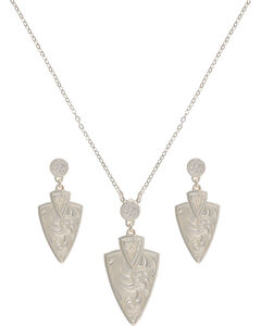 Montana Silversmiths A Keen Pursuit Arrowhead Jewelry Set, , hi-res