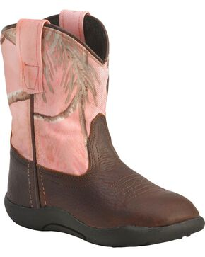 Old West Infant Girls' Realtree Camo Boots, Rust, hi-res