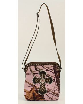 Blazin Roxx Camo & Cross Crossbody Bag, Pink, hi-res