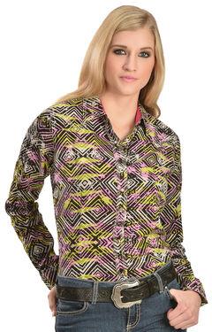 Wrangler Rock 47 Women's Geo Print Western Shirt, , hi-res