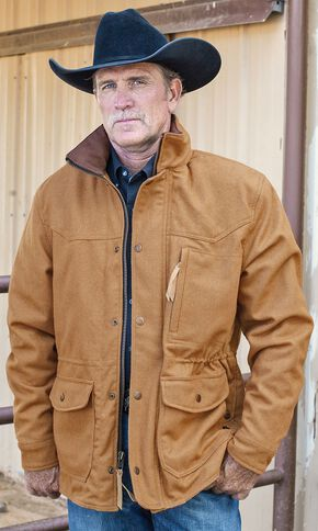 STS Ranchwear Men's Smitty Camel Barn Jacket - Big & Tall - 4XL, Camel, hi-res