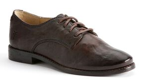 Frye Women's Anna Oxford Shoes - Round Toe, Dark Brown, hi-res
