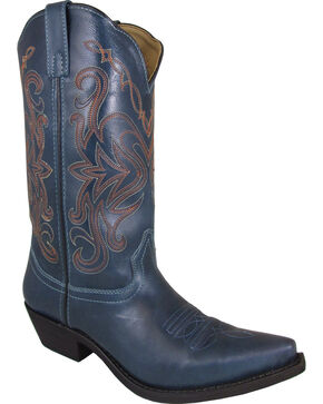 Smoky Mountain Madison Blue Cowgirl Boots - Snip Toe, Blue, hi-res