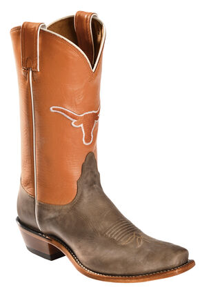 Nocona Women's Texas Longhorns College Boots - Snip Toe, Tan, hi-res
