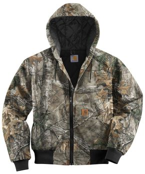 Carhartt Quilted-Flannel-Lined Active Jacket - Big & Tall, Camouflage, hi-res