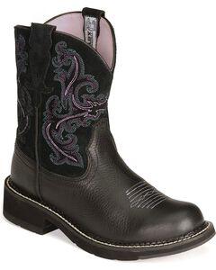 Ariat Fatbaby Black Deertan Cowgirl Boots, , hi-res