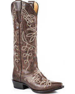 """Stetson Adeline 15"""" Cowgirl Boots - Snip Toe, , hi-res"""