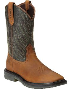 Ariat Maverick Pull-On Work Boots - Wide Square Toe, , hi-res