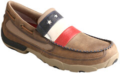 Twisted X Men's VFW Stars and Stripes Driving Mocs , , hi-res