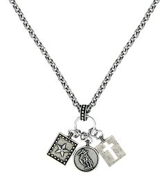 Montana Silversmiths Hardwork, Faith & Dreams Charm Necklace, , hi-res