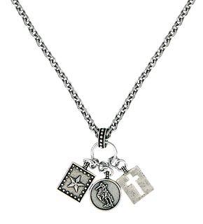 Montana Silversmiths Hardwork, Faith & Dreams Charm Necklace, Silver, hi-res