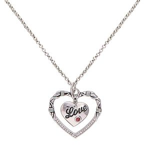 Montana Silversmiths Love & Heart Necklace, Silver, hi-res
