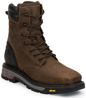 Justin Original Commander X5 Lace-Up Waterproof Boots - Steel Toe , Timber, hi-res