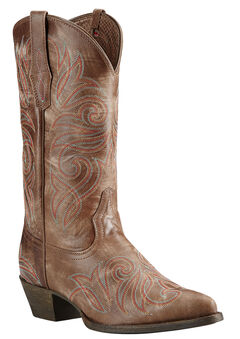 Ariat Brown Round Up Cowgirl Boots - Pointed Toe, , hi-res