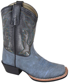 Smoky Mountain Youth Boys' Gallup Leather Western Boots - Square Toe, Blue, hi-res