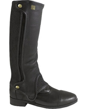 Ovation Women's Precision Fit Half Chaps, Black, hi-res