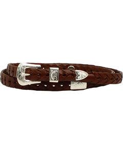 M & F Western Men's Braided Leather Concho Hatband, , hi-res