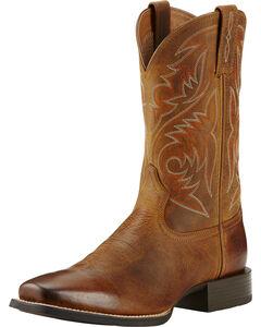 Ariat Powder Brown Sport Herdsman Cowboy Boots - Square Toe, , hi-res