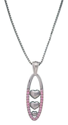 Montana Silversmiths Oval Heart Crystal Necklace, , hi-res
