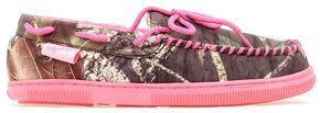 Blazin Roxx Women's Camouflage Print Pink Accent Moccasins, Camouflage, hi-res